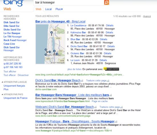 Recherche Bar à Hossegor Bing